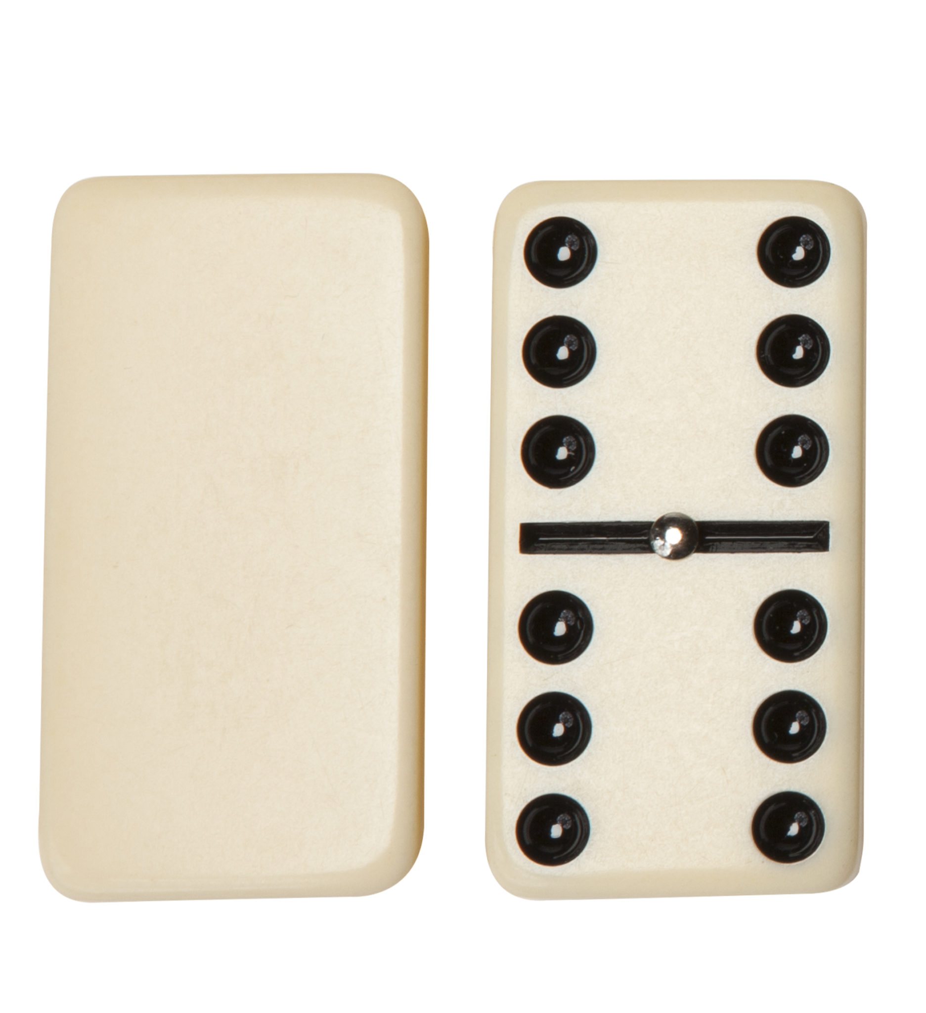 Double Six Dominoes With Spinners Ivory Tiles Club Size
