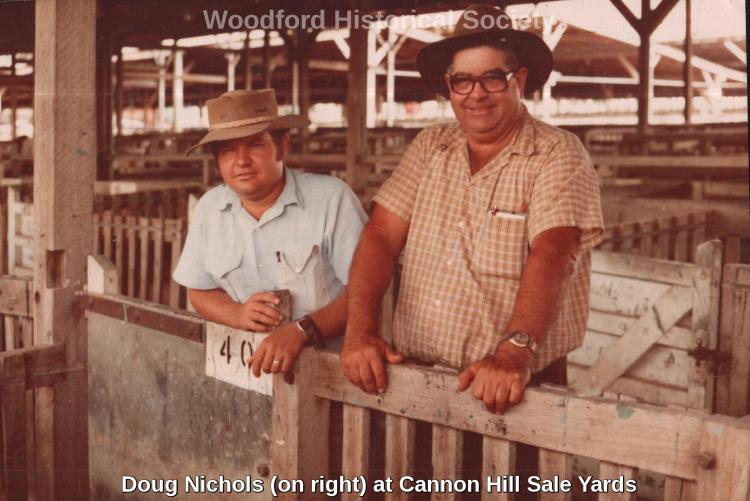 Doug Nichols on right at cannon hill sale yards