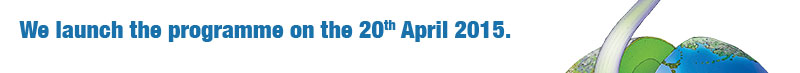 We launch the programme on the 20th April 2015