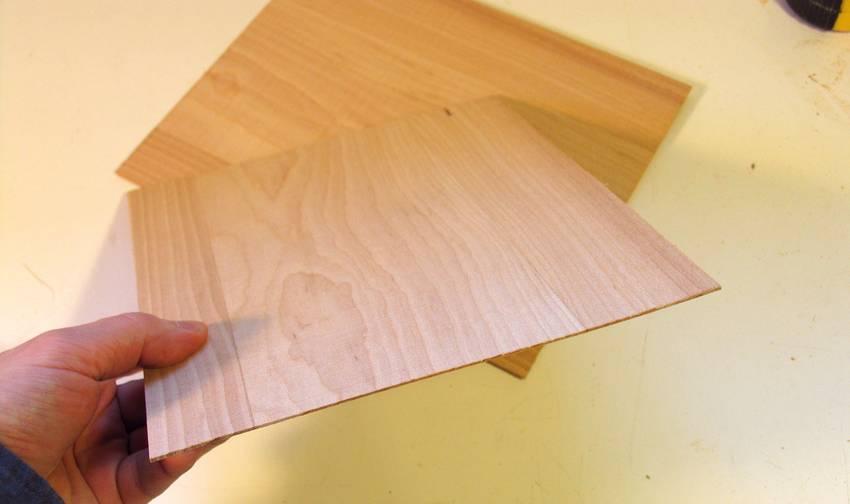 thin sheets of wood