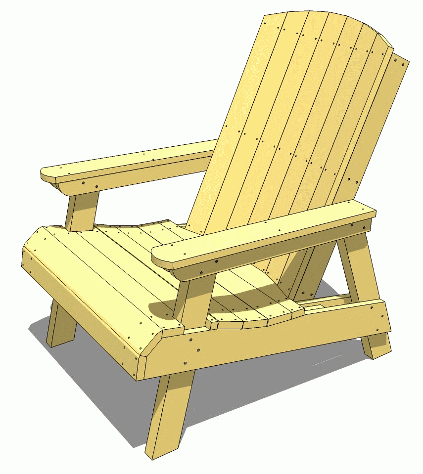 This is a photo of Enterprising Printable Adirondack Chair Plans