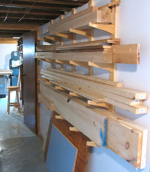 Building a lumber rack