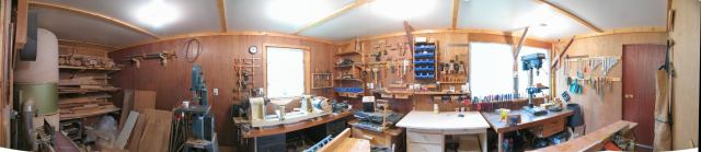 270 degree panorama of my workshop, in 2005
