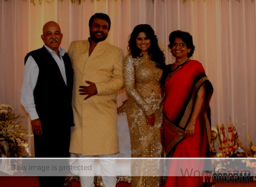 Sai Tamhankar With Husband, Father And Mother