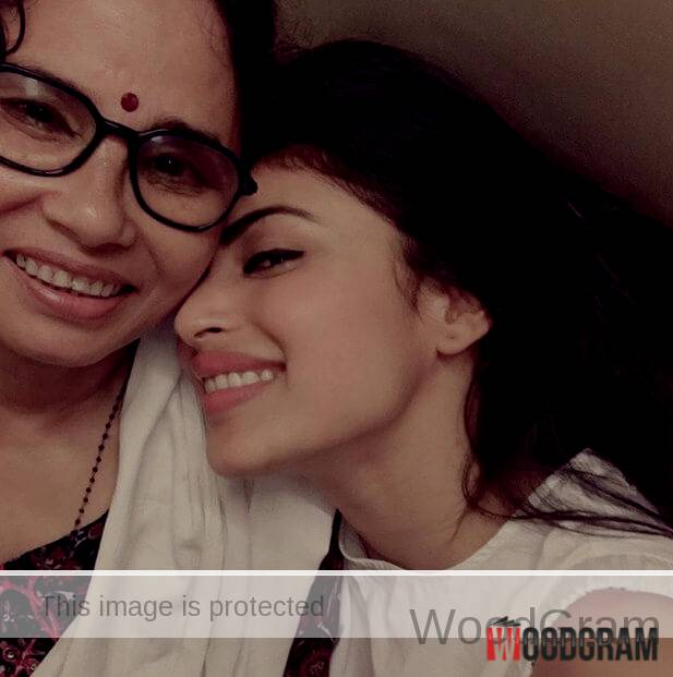 Mouni Roy With Mother