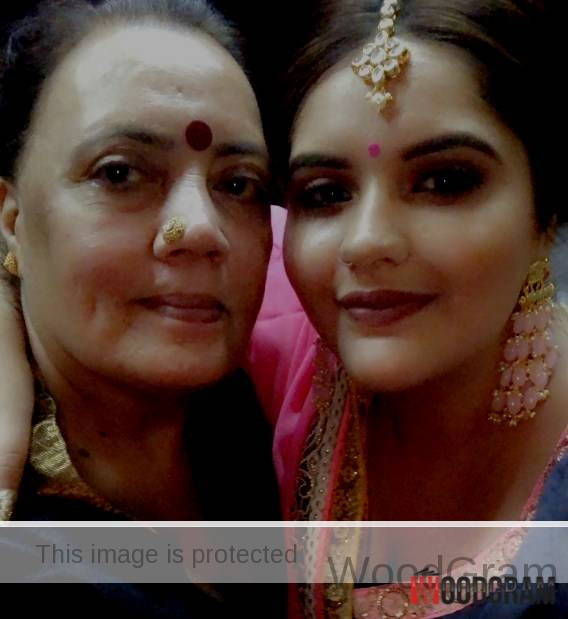 Anjali Anand With Her Mother