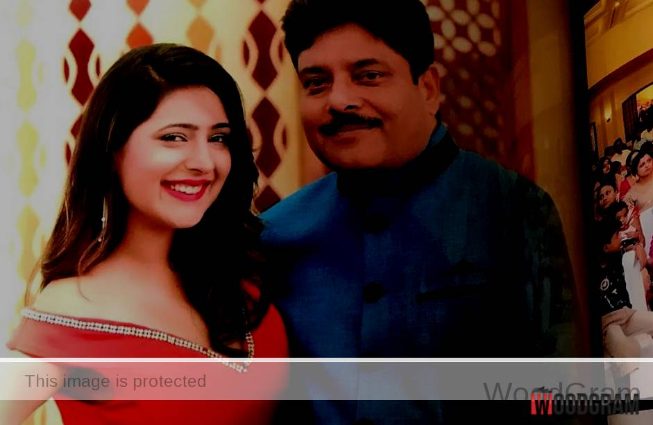 Shiny Dixit With Her Father