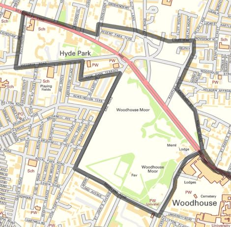 Woodhouse Moor and Little London PSPO Map 470