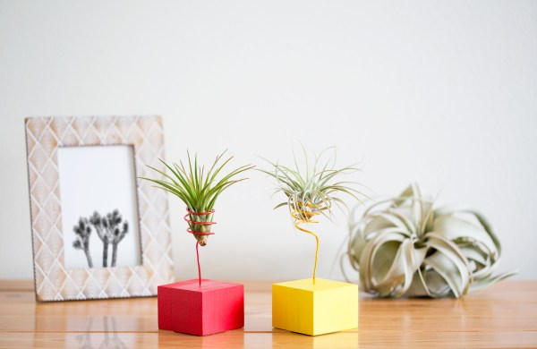 Red and Yellow Wire Vases