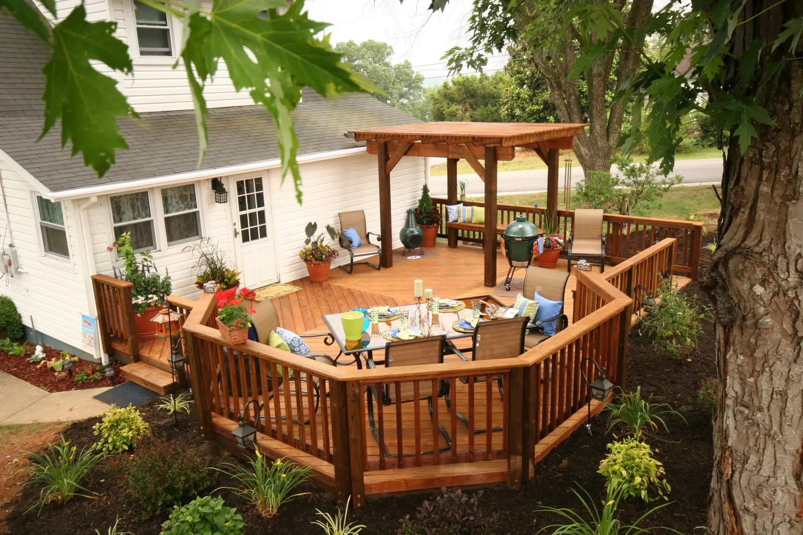 Building a Deck: Return on Investment Calculator | Wood ... on Wood Deck Ideas For Backyard  id=64966