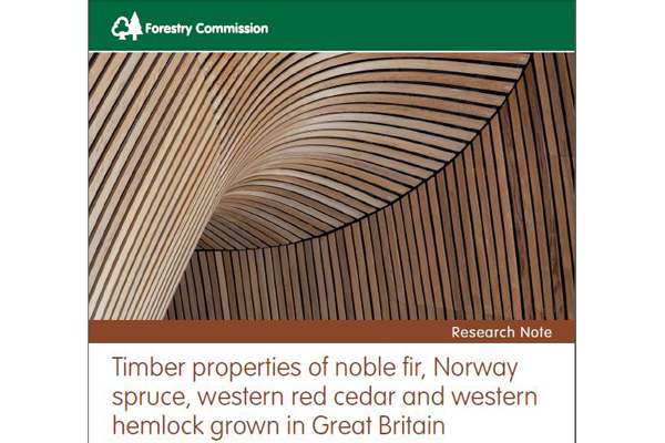 Timber properties of noble fir, Norway spruce, western red cedar and western hemlock grown in Great Britain