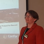 Eleanor Harris from Confor giving a presentation