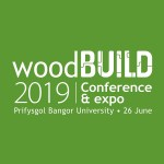 """Green box with white text """"WoodBUILD 2019"""""""