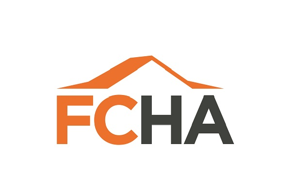 Logo for First Choice Housing. Made up of the letters FCHA with a roof line above