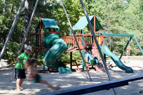 Slides and swingset