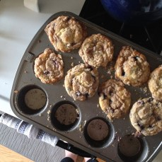 and blueberry streusel muffins