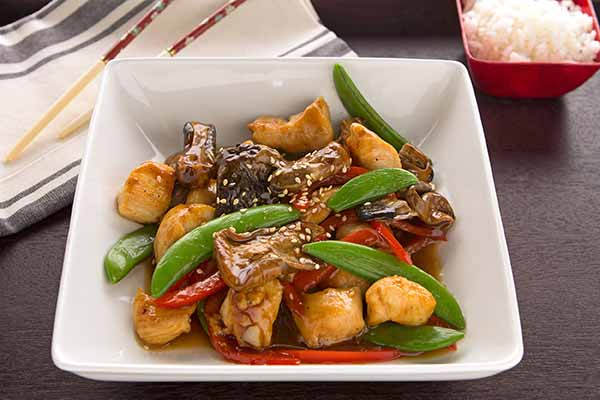 Chicken and Paddy Straw Mushroom Stir Fry