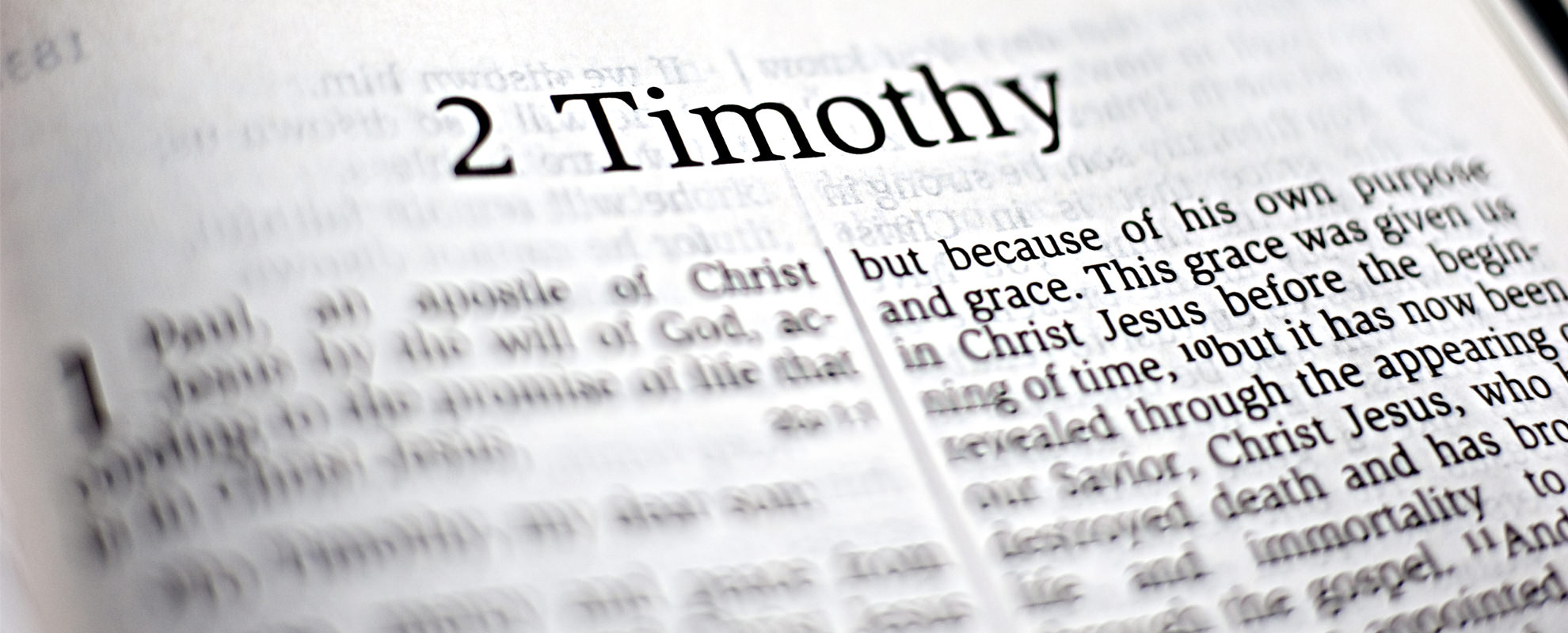 2 Timothy 11 7 A Spirit Of Power Love And Self Control