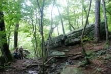 Rock gap above West Fork