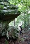 Hiking around the boulders
