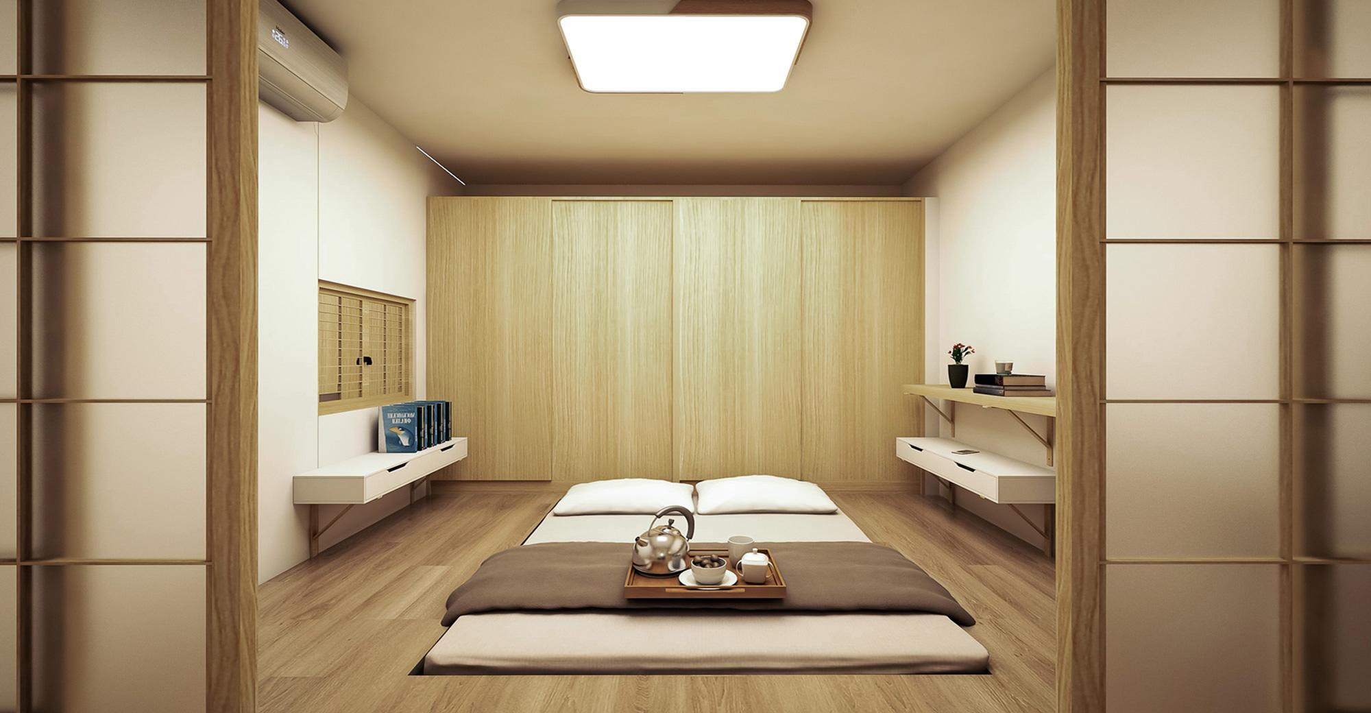 Japanese style bedroom 和室 臥室 室內設計 日式