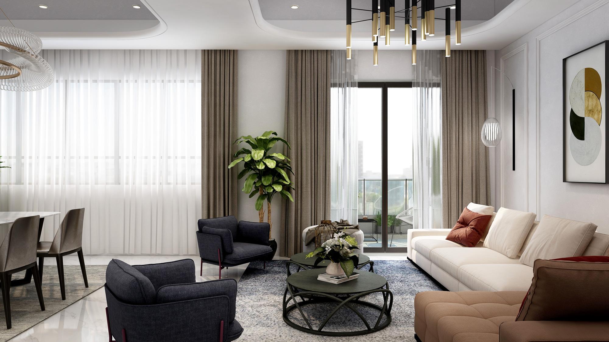 Living Room interior design villa french style Chongqing 法式 客廳 室內設計 重慶 別墅
