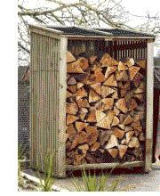 log firewood store shed scotland