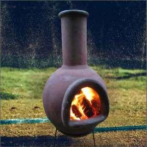 chimenea burning logs lanarkshire
