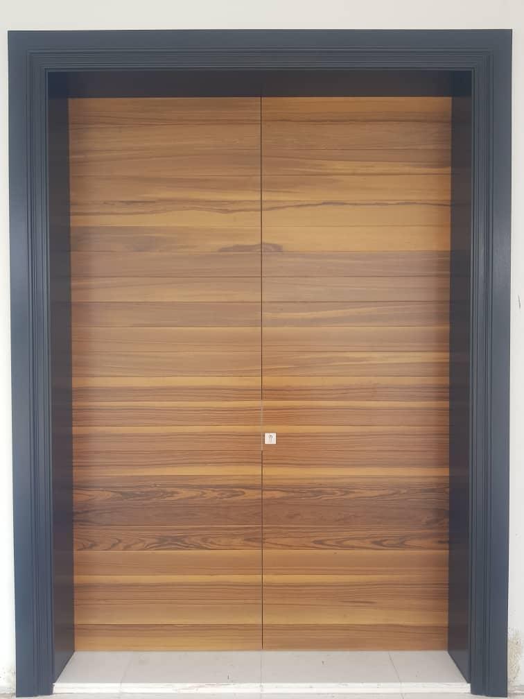Waves Design Kayu Pintu Timber Door