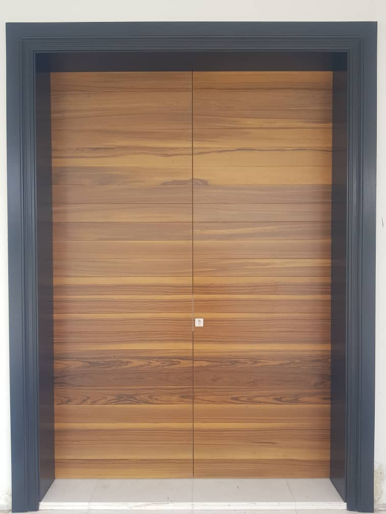Waves Design Kayu Pintu Timber Door