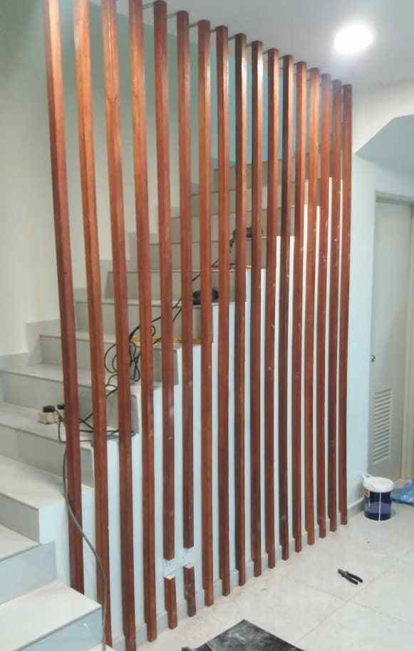Solid Wood Divider - Hardwood Partition