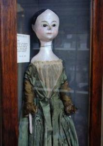Hand-whittled doll