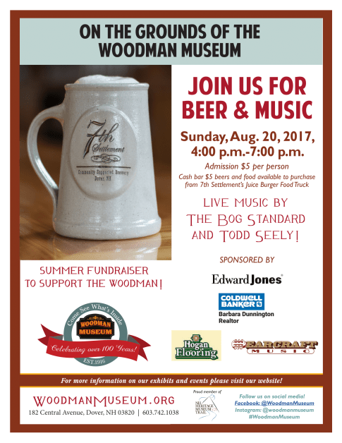 Beer and Music at the Woodman Museum