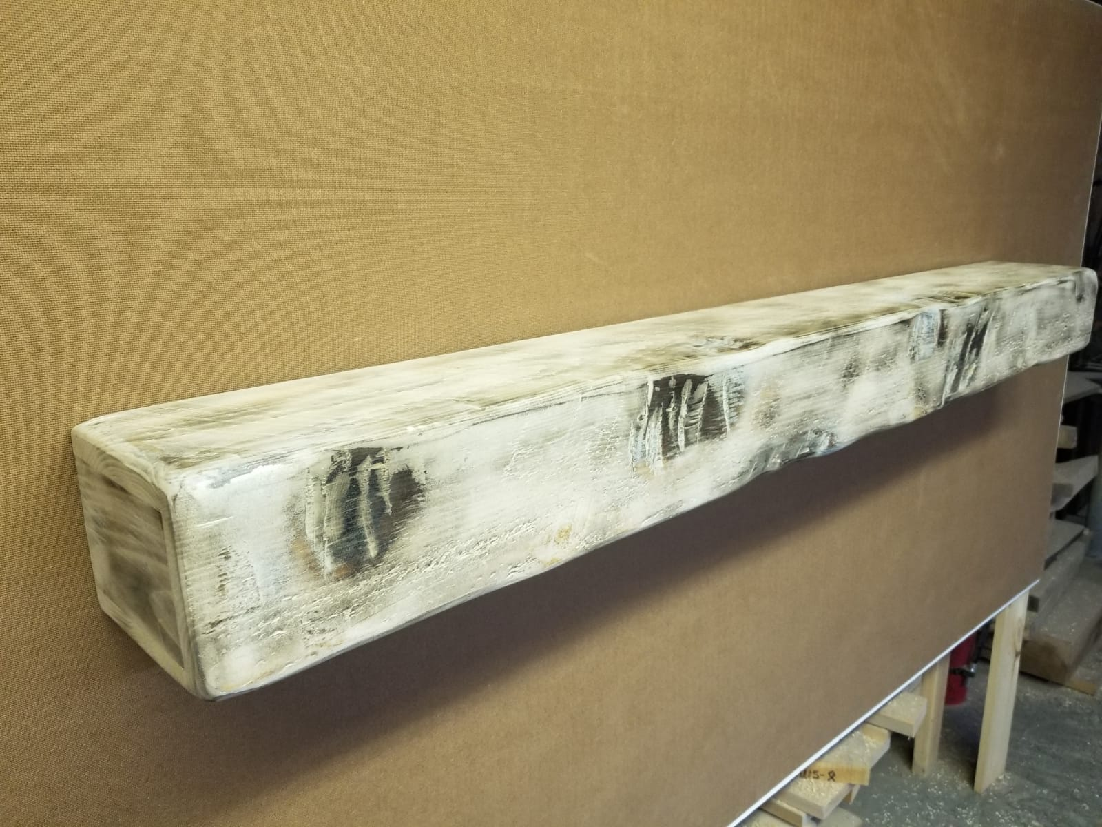 Whitewash Rustic Wood Fireplace Mantel Shelf Wood Mantel Shelf