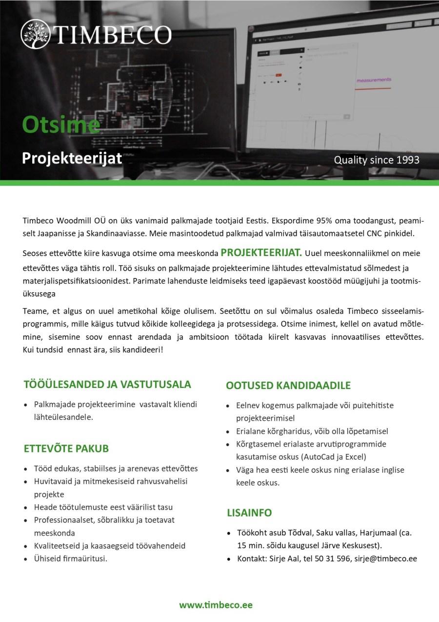Töökuulutus_projekteerija