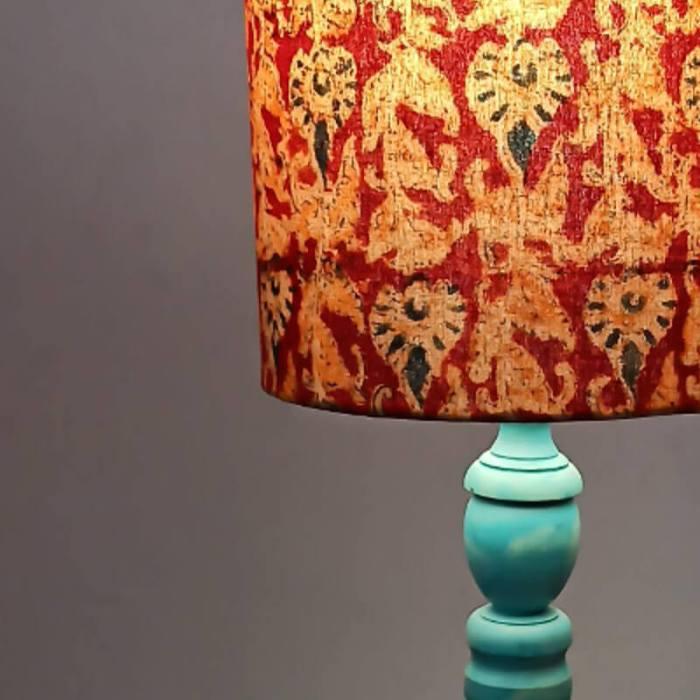 Distressed blue lamp