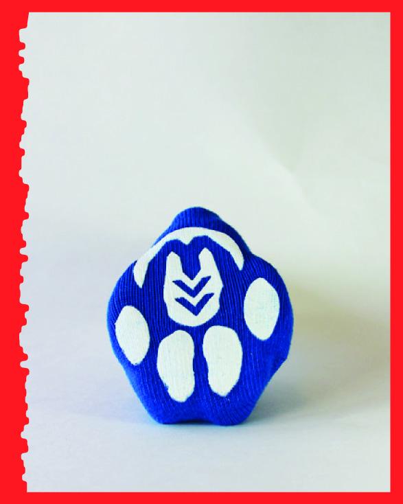 Blue with a bone, Original, bottom view.