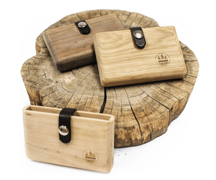 Wooden Accessories   Our products   WoodSeason     a plain leather wallet or a canvas business card holder  when you can  enjoy a good  strong  and stylish wooden wallet and other quality  accessories