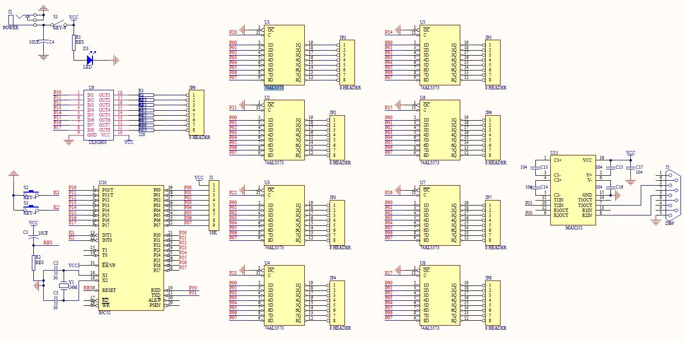 8x8x8 LED Cube WoodUinoca