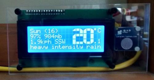Weatherman: Web Weather Forecaster showing