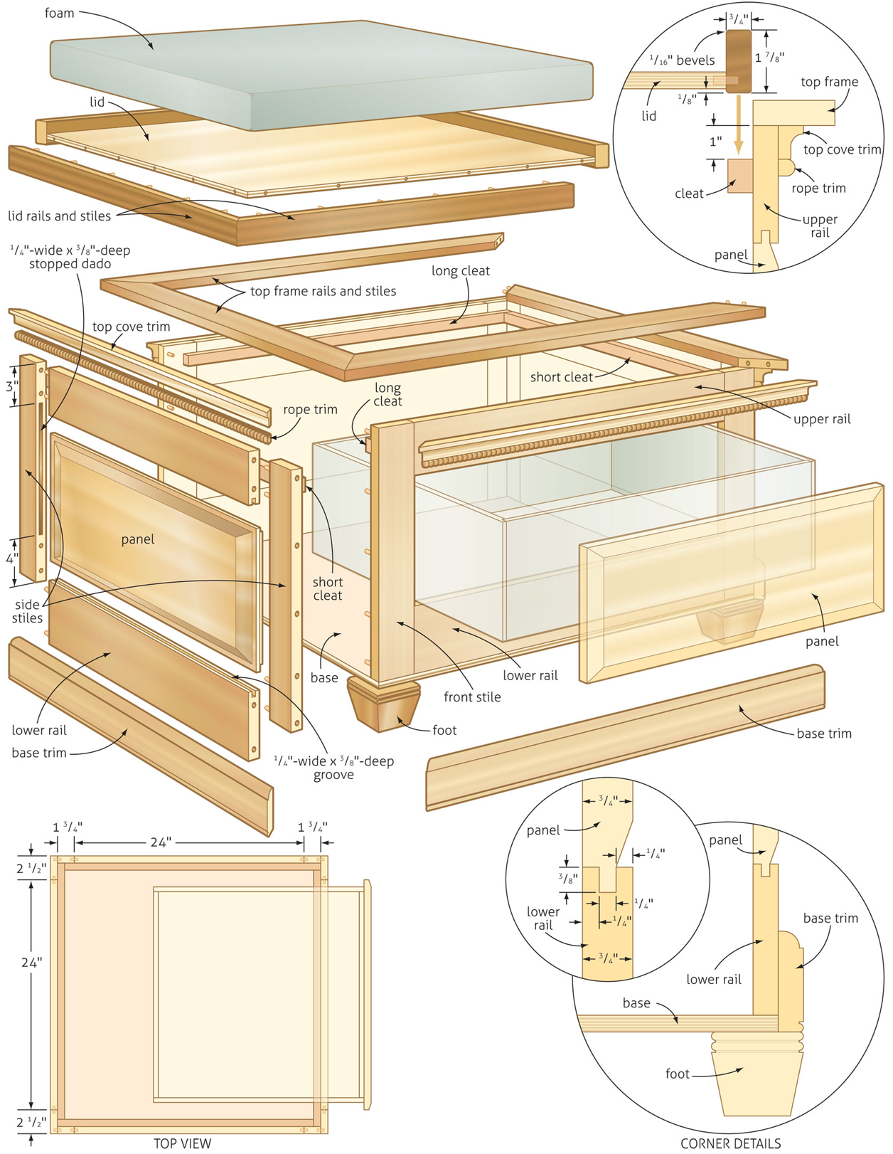 Free Storage Coffee Table Plans