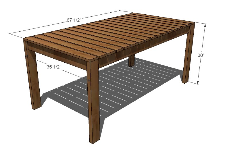 Plans Outdoor Dining Table PDF Woodworking