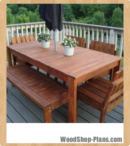 woodworking plans outdoor tables
