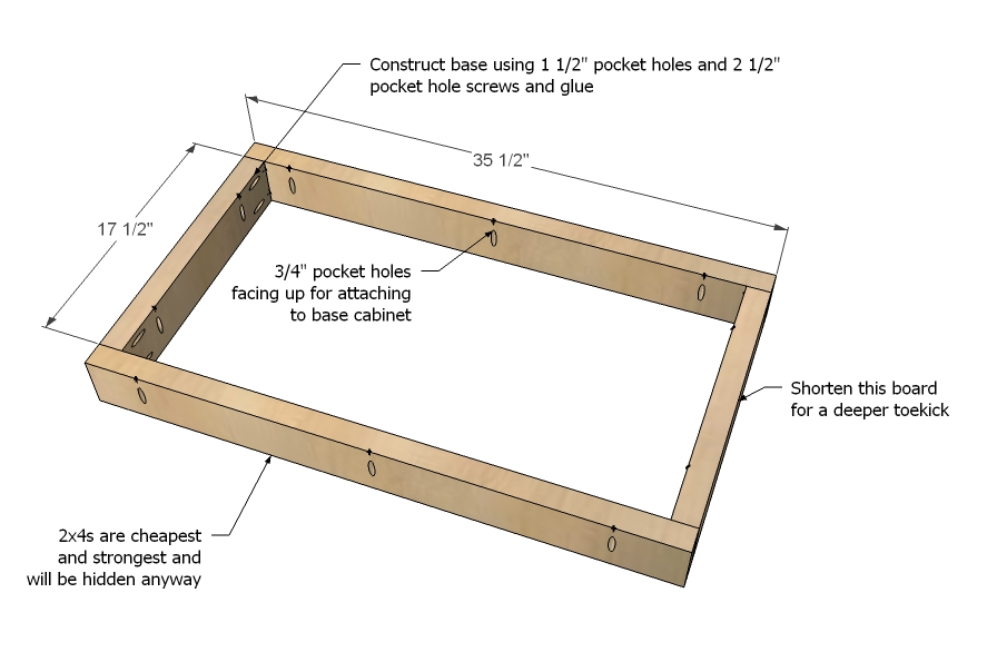 Woodworking Plans Base Cabinet