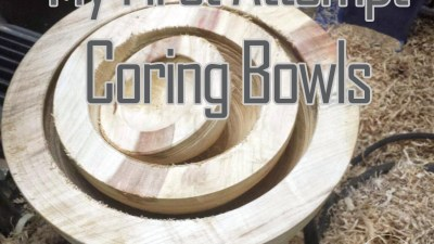 Coring a Set of Box Elder Bowls