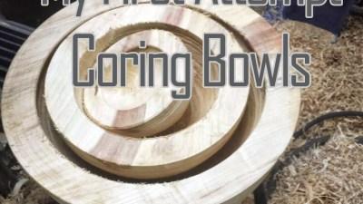 Coring a Set of Box Elder Bowls