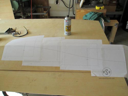 Spray Mount Paper Template to Plywood