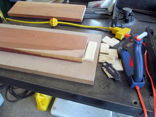 Hot Glue and Scraps to Make Planer Sled