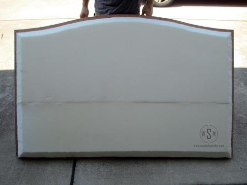 Foam on Headboard With Super 77