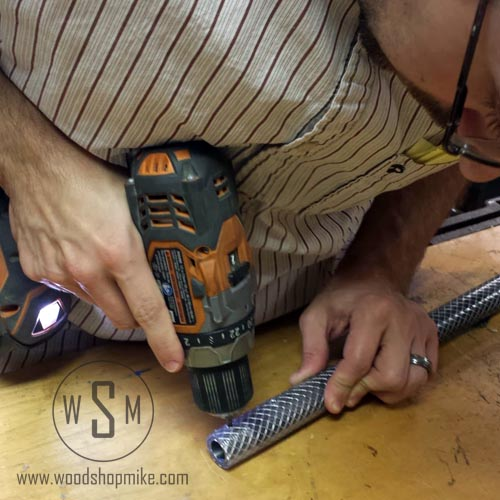 Installing Set Screws With Ridgid drill